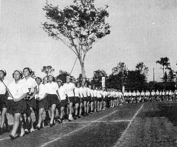 昭和18年の運動会の写真